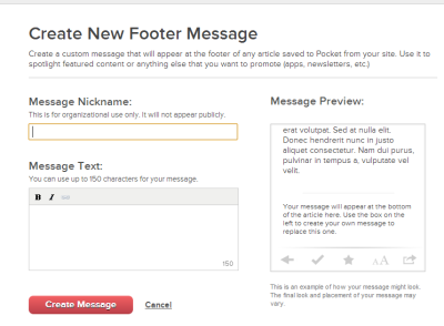 pocket publisher tool footer message 400x294