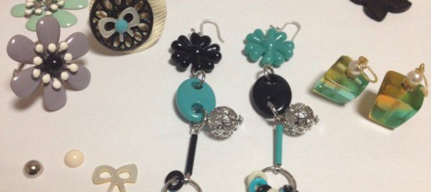 white-black-turquoise-pierce-ring