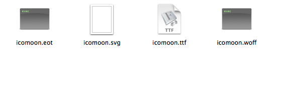 14 icomoon fonts folder