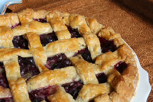blueberry pie english